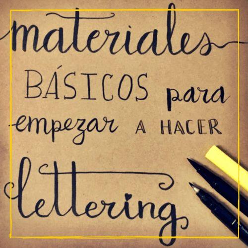 Materiales básicos para empezar a hacer lettering