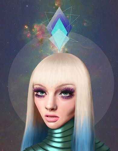 #illustration #ilustracion #cosmic #space #art Saint Cosmic
