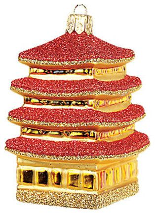 Mini Pagoda Ornament - asian - holiday decorations - - by Gump's San Francisco