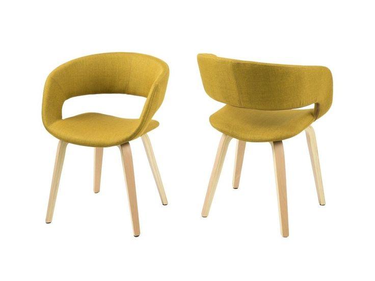Krzesło Grace III żółte — Krzesła Actona — sfmeble.pl
