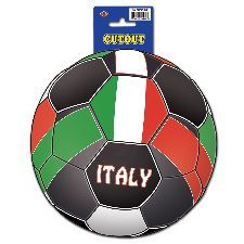 Italy Football Cutout. A cool Italy decoration to support your team. http://www.novelties-direct.co.uk/Italy-Football-Cutout.html
