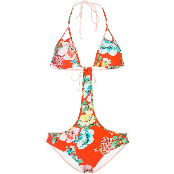 Billabong Fantasy One-Piece Swimsuit ($36) ❤ liked on Polyvore featuring swimwear, one-piece swimsuits, two piece bathing suits, bikini swimsuit, 2 piece swimsuits, triangle bikini and two piece swimsuits