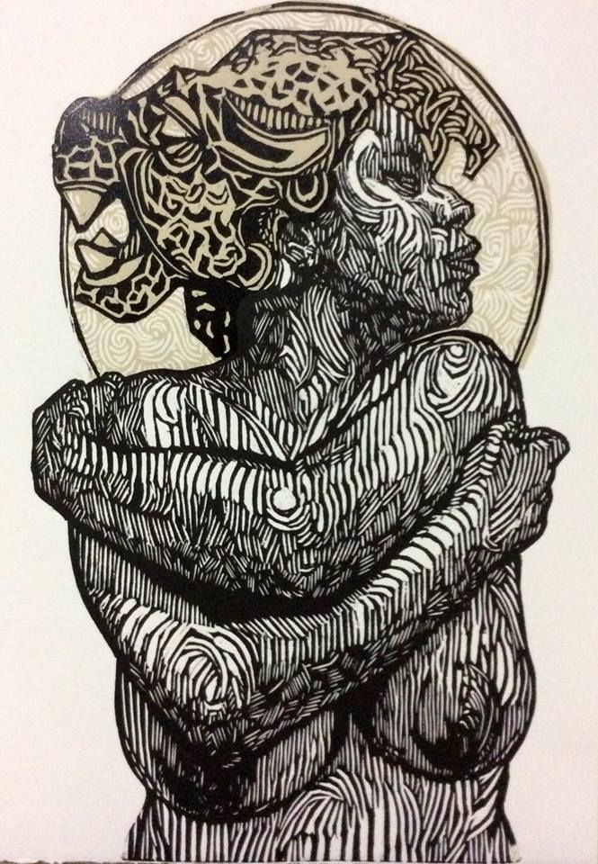 Image result for african women lino art