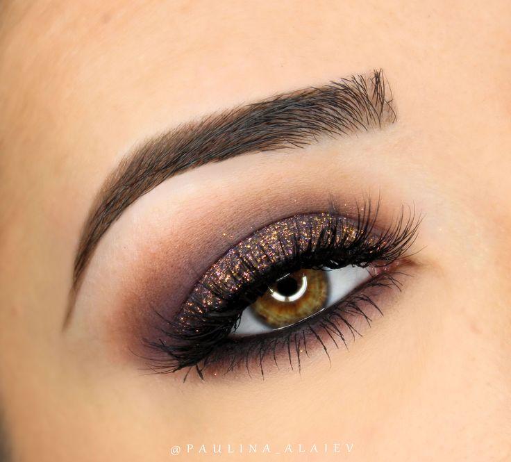 Makeup Geek Eyeshadows in Cocoa Bear and Motown + Makeup Geek Sparklers in Satellite. Look by: Paulina Alaiev