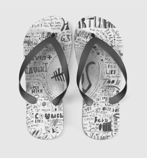 5 sos collage Flip Flops Men Women