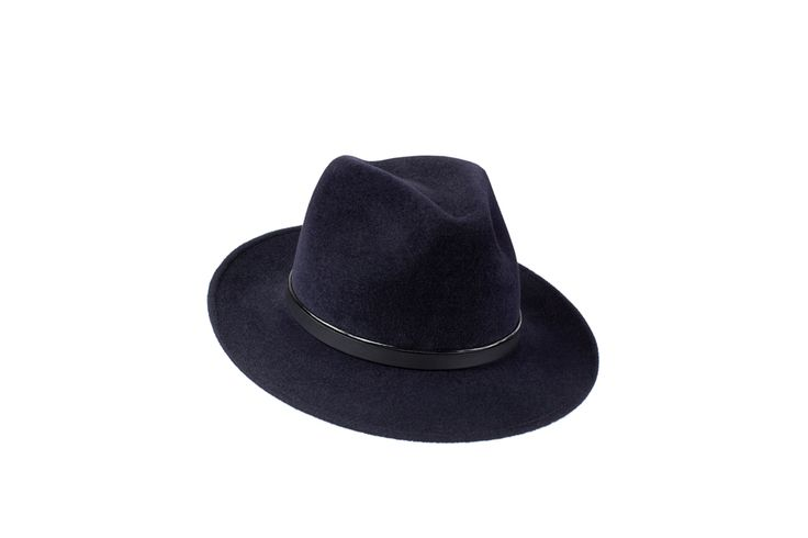 The Spring/Summer Collection | Amber Trilby | Midnight Blue | Patent & Black Leather Band  www.penmayne.com #trilby #hats #accessories