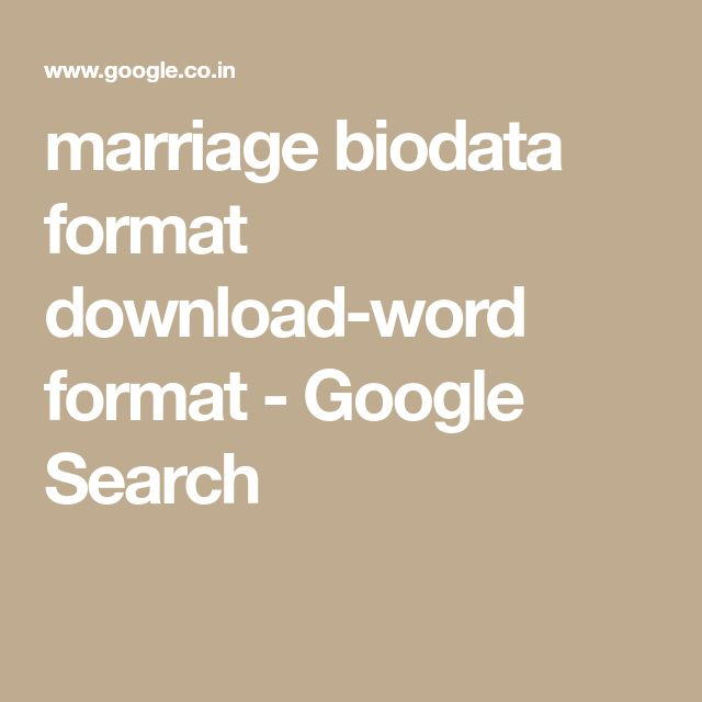 The 25+ best Biodata format download ideas on Pinterest Biodata - cognos fresher resume