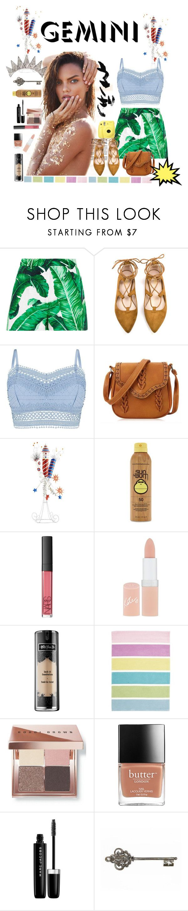 """yass! Gemini"" by anilu-corazon-chang ❤ liked on Polyvore featuring Dolce&Gabbana, Fuji, Lipsy, Pier 1 Imports, Forever 21, NARS Cosmetics, Rimmel, Kat Von D, Unitex International and Bobbi Brown Cosmetics"