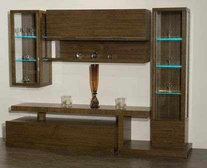 Casa Ampia-Unit Focus- έπιπλο tv - καθιστικό-διακόσμηση σαλονιού-ξύλο Καρυδιά