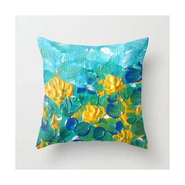 40 liked on polyvore featuring home home decor throw pillows turquoise home decor floral home decor white home accessories white home