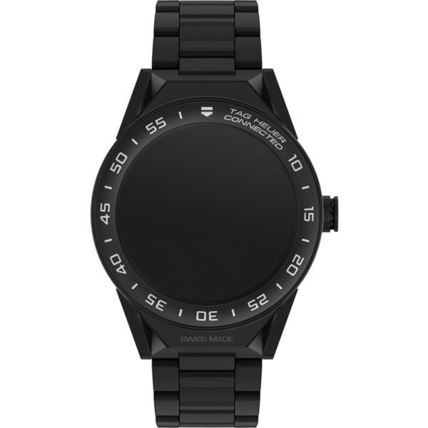 Tag Heuer SBF8A801380BH0933 Connected Modular 45 titanium watch ($2,950) ❤ liked on Polyvore featuring jewelry, watches, tag heuer watches, titanium wrist watch, titanium watches, futuristic watches and titanium jewelry