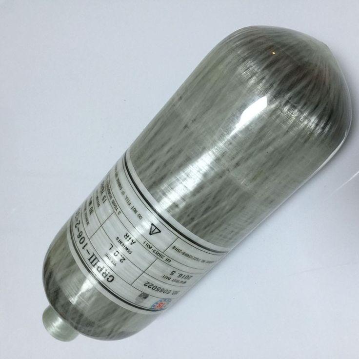Открытый Спорт Пейнтбол Используется 2L 4500psi 300bar Углеродного Волокна Газовый Баллон/PCP Воздушный Баллон