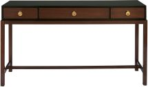 No. 9366  LACQUER CONSOLE TABLE  Based loosely on the form of an 18th-century alter table where ancestral tablets, images of deities and ceremonial vessels were displayed, this elegant lacquer console features solid walnut legs and solid brass hardware.   Contact your nearest location for pricing SHAREPin It DIMENSIONS Width: 60 inches Console:  FF 101 at entry to MBR Depth: 18 inches Height: 33 inches More detailed dimensions