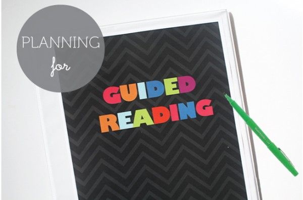 Resource to plan for guided reading