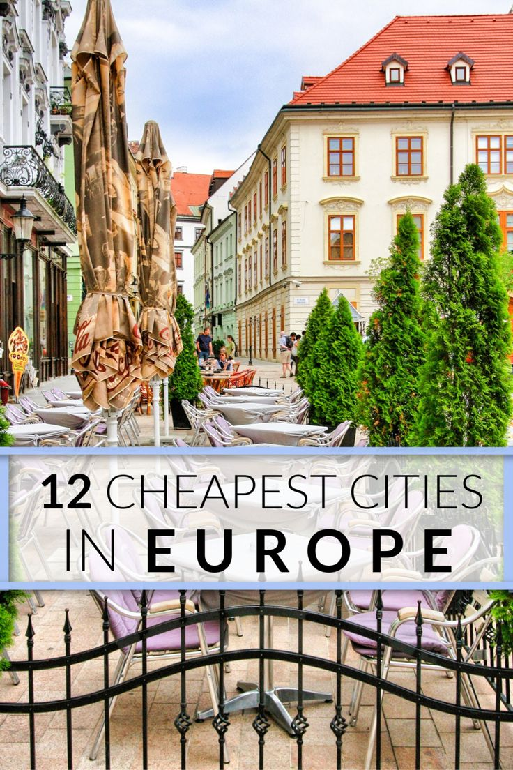 The 14 cheapest cities in Europe