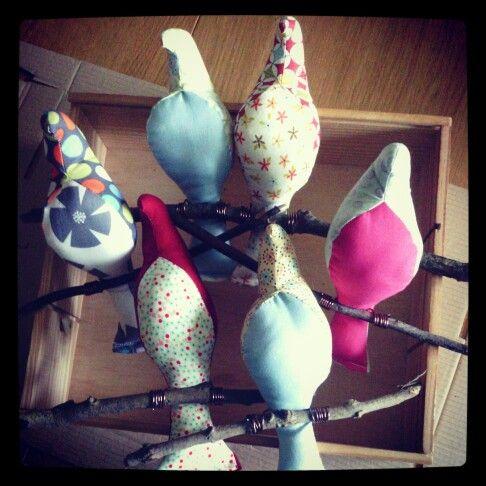 Fabric birds