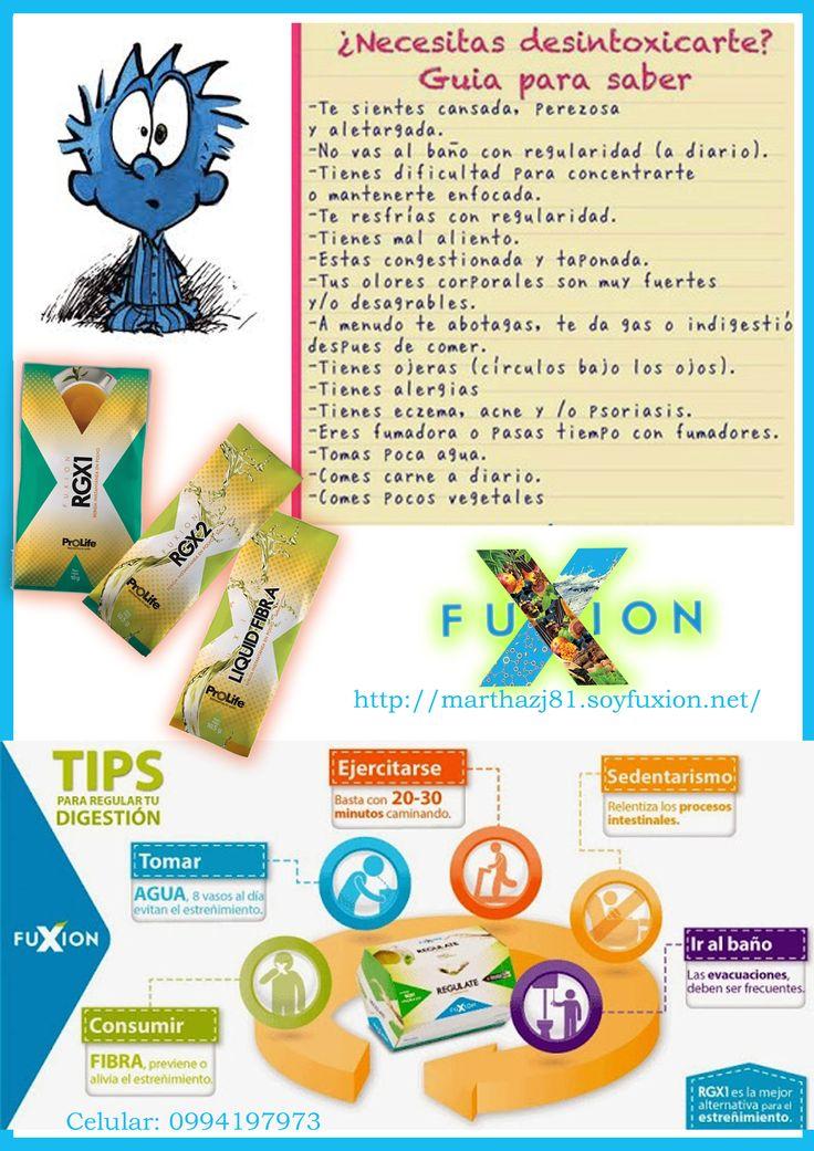 #Fuxion #saludverdadera #desintoxicación   RGX1 - RGX2 - LIQUID FIBRA  Pedidos e información para emprender tu negocio Fuxion: (593)0994197973 http://marthazj81.soyfuxion.net/