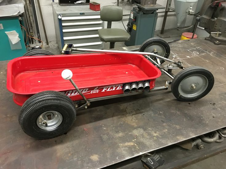 Hot rod Radio Flyer Wagon