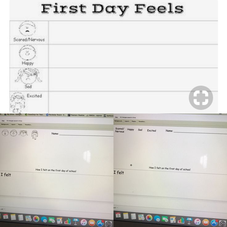 First Day Feels: Graph and Writing! Can project the graph and students can see how other students felt the first day. 2 writing papers for different abilities! One paper has pictures for younger students to write how they feel. The other has feeling words for students who can read the words! Fun and great for first day or first week! Goes great with The Kissing Hand book.   **If you buy it, I can send you an EDITABLE version for Spanish or other languages…