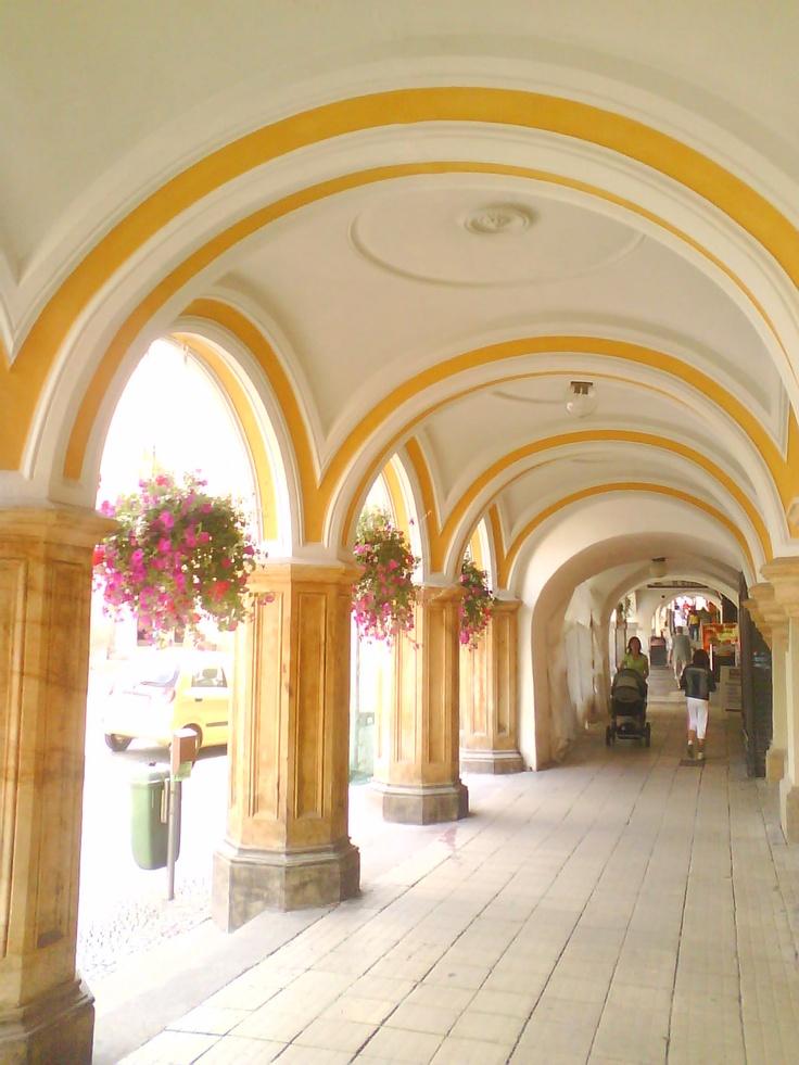 Proper shopping. Walkway in Trutnov, Cezch Rep.