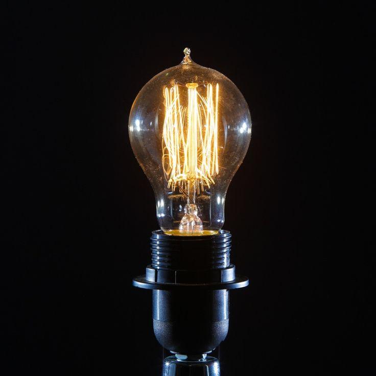 vintage light bulb 6cm retro edison round globe bulb 40w - Vintage Light Bulbs