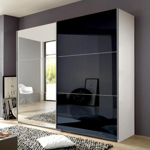 Genial kleiderschrank schwarz mit spiegel