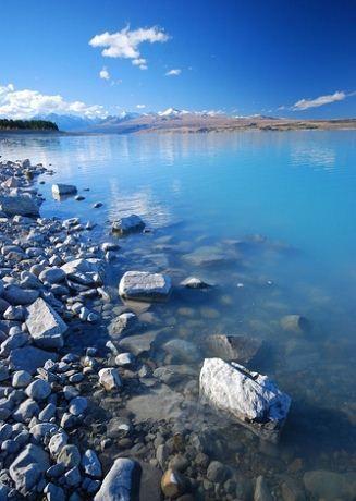 Magical Lagoon, Mount Cook, New Zealand