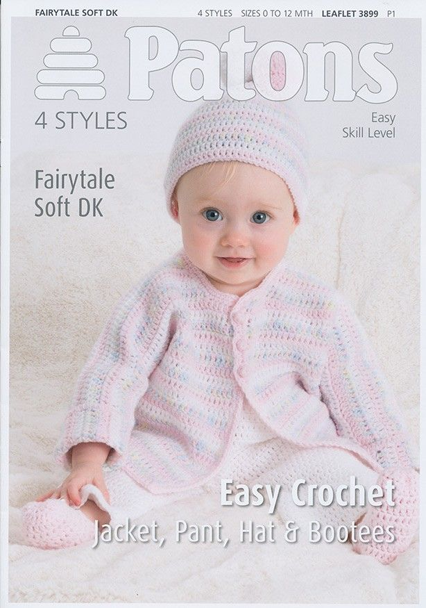 Jacket, Pant, Hat & Bootees in Patons Fairytale Soft DK (3899)   Patons Knitting Patterns   Knitting Patterns   Deramores