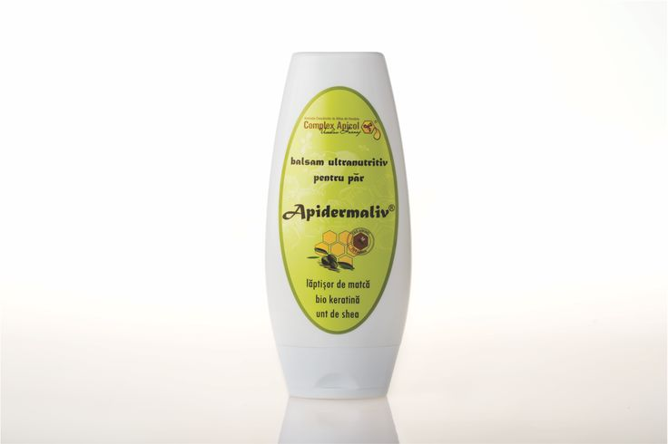 Apidermaliv ultranourishing conditioner  bio keratin, royal jelly, olive oil Apidermaliv balsam ultranutritiv pentru par