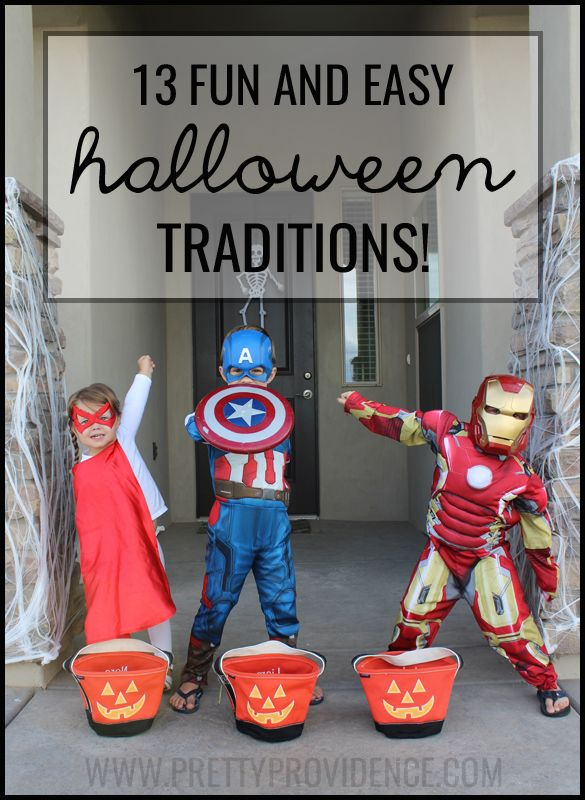 13 fun and easy Halloween traditions! Love all these ideas! It doesn't have to be over the top to make great memories with your kids! #halloween #tradition #spon