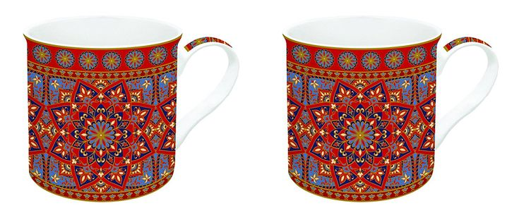 R2S 178 Manr Art Around the World Set Kaffeebecher mit Keramik, mehrfarbig 26 x 11 x 9,5 cm: Amazon.de: Küche & Haushalt