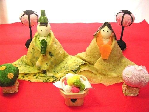 Hina Doll Sushi for Hinamatsuri Girls' Day