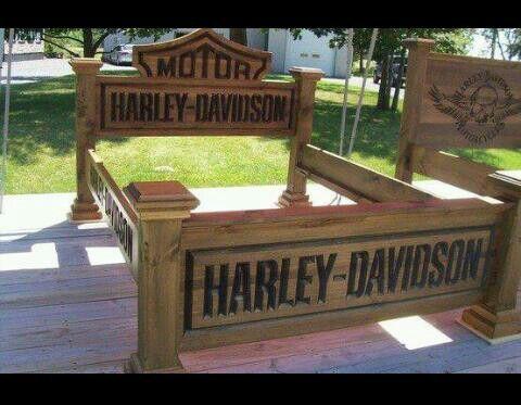 Harley Davidson Bed Frame Ideas For The House Pinterest Davidson Lits Et Cadres