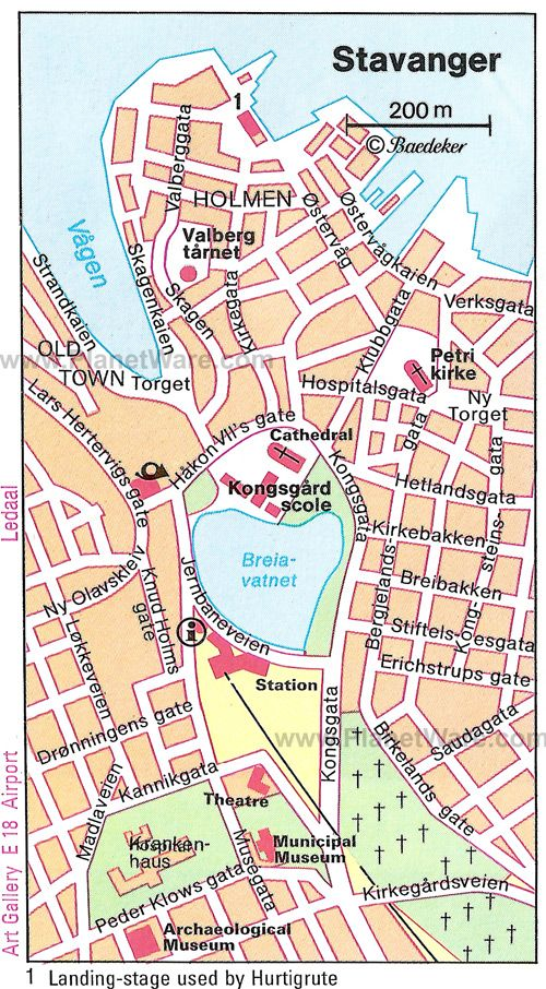 Stavanger Map - Tourist Attractions
