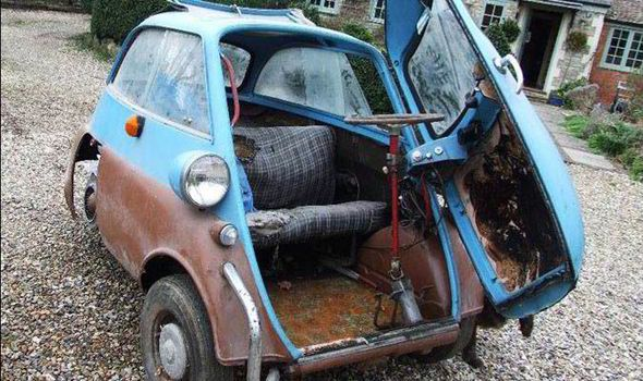 bmw isetta bmw and old cars on pinterest - Rusty Old Cars For Sale