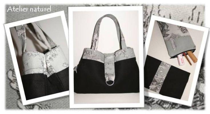 Patron couture gratuit sac a main faire soi m me des sacs main pinterest patron couture - Couture sac a main ...