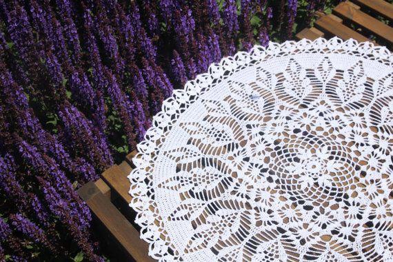 White round crochet doily