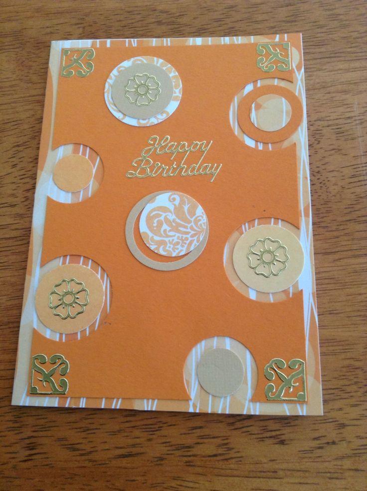 Birthday card using circle punches