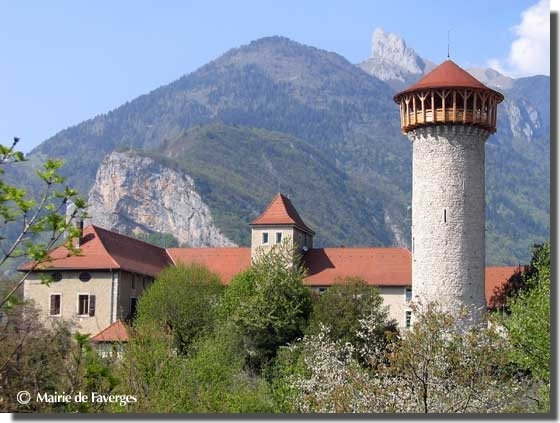 """""""Le chateau"""" in Faverges...   We climbed to the top of that tower... the view is gorgeous."""