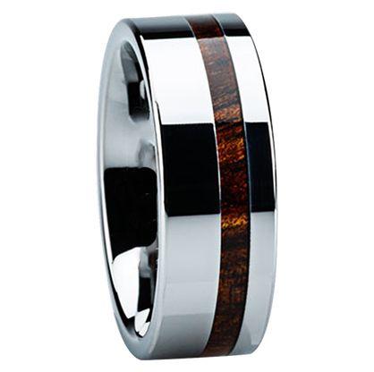 8 mm koa wood mens wedding bands k116m - Cool Mens Wedding Rings