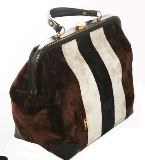 Exceptional Doctor Bag of Roberta di Camerino 1960 | From a collection of rare vintage handbags and purses at http://www.1stdibs.com/fashion/accessories/handbags-purses/
