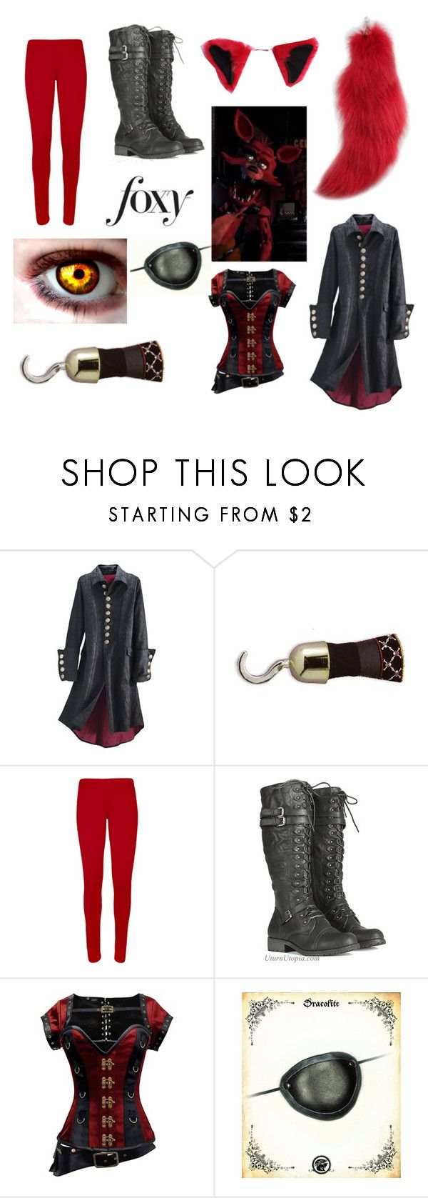 """""""Fnaf Foxy!"""" by everyfandomever ❤ liked on Polyvore featuring INC International Concepts and WearAll"""