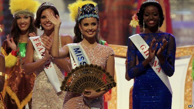 "Miss Philippines, Megan Young, won the 2013 Miss World pageant. She won ahead of Miss France (2nd place) and Miss Ghana (3rd place). She was actually born in the United State but moved to the Philippines when she was 10. She pledged to be ""the best Miss World ever"". Meili W."