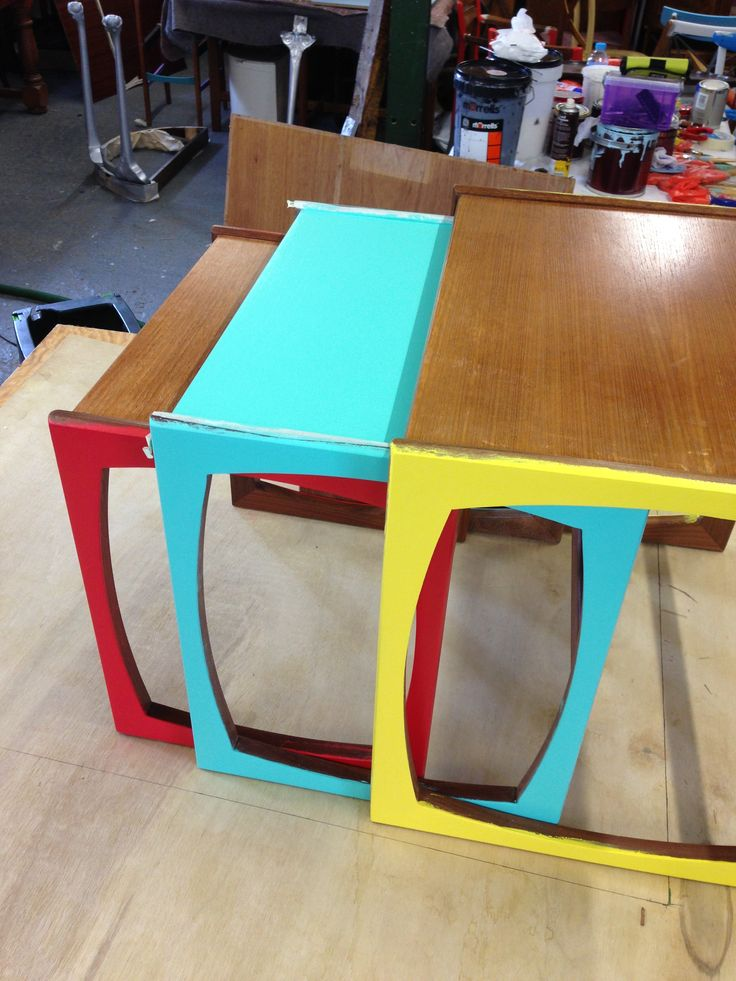 Good morning all, what do you thing if this Nest of G Plan tables? We will be showing them off at @Heal's.