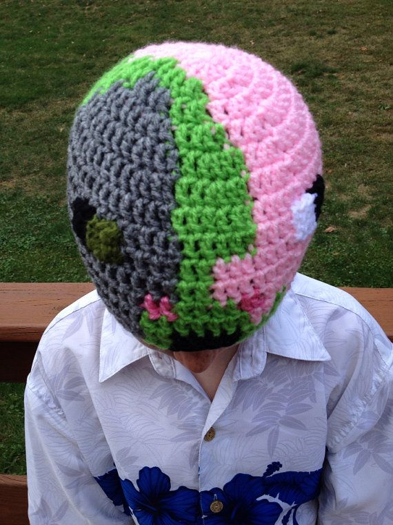 ... knit hat minecraft hats blankets beanie hats minecraft inspired zombie