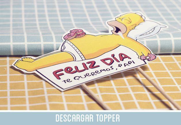 Topper Homer Simpson Día Del Padre Día Del Papá Dia Del Padre Homero Simpson