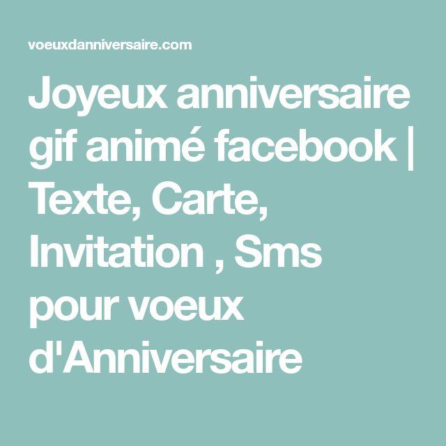 Joyeux anniversaire (gif animé pour facebook) | Anniversaire gif, Joyeux anniversaire gif animé ...