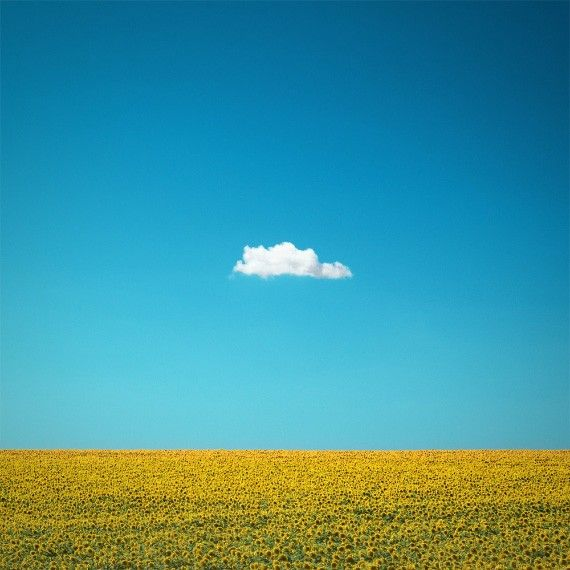 Simple Nature Photography The Happy One Lone Cloud by ndtphoto