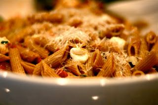 Tomato Basil Pasta- just like the Cheescake Factory favorite. so good and easy to make! -mjh
