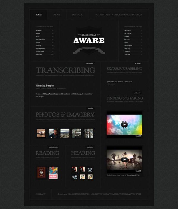BlissfullyAware › A Website by Josh Lane